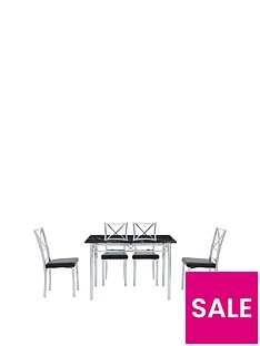 marble-effect-120cm-dining-table-4-chairs