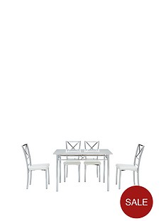 marble-effect-diningnbsptable-4-chairs