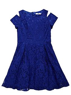v-by-very-girls-cut-out-shoulder-lace-dress