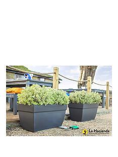la-hacienda-set-of-2-80cm-artevasi-capri-xl-pot-anthracite