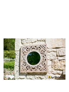 la-hacienda-square-stone-effect-garden-mirror