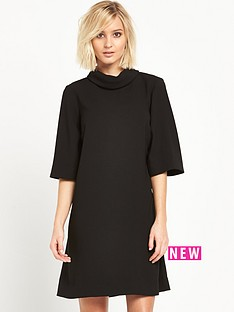 river-island-roll-neck-swing-dress