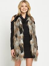 Multi Faux Fur Long Gilet