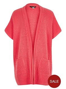 river-island-girls-knitted-short-sleeve-cardigan