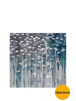 arthouse-birch-trees-metallic-printed-canvas-in-blue