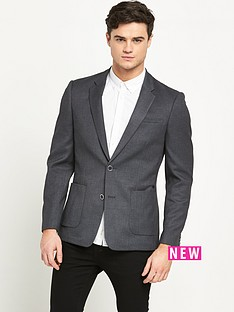 river-island-textured-slim-blazer