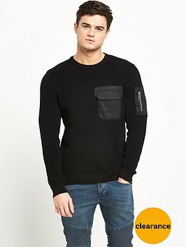 river-island-military-mens-jumper