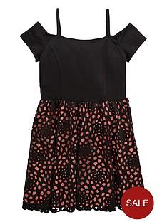 v-by-very-girls-bardotnbspscuba-laser-cut-dress
