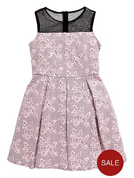 v-by-very-girls-textured-skater-dress