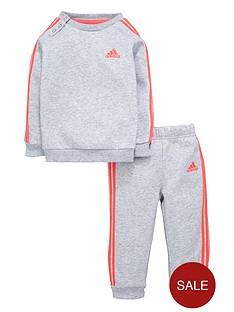 adidas-adidas-baby-girl-3-stripes-fleece-suit