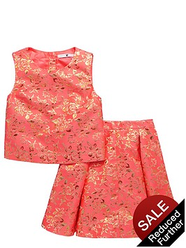 v-by-very-girls-premium-jacquard-top-and-skirt-set