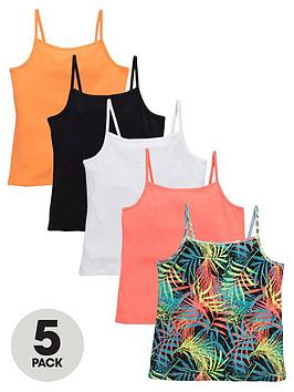 v-by-very-girls-sporty-essential-vests-5-pack