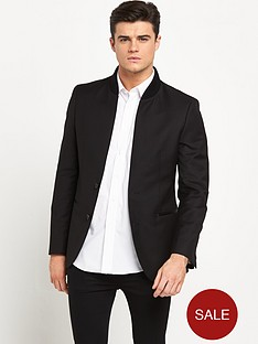 river-island-inverse-collar-smart-blazer