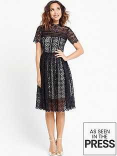 myleene-klass-guipure-skater-dress