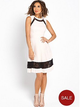 myleene-klass-pleat-skirt-lace-skater-dress
