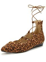 Leopard Ghillie Wedge Sandal