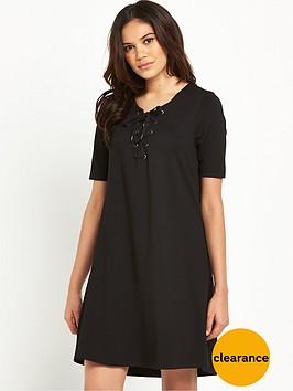 vila-viforce-short-sleeved-dress