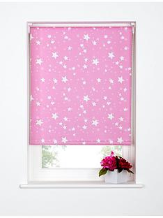 star-printed-blackout-roller-blind-pink