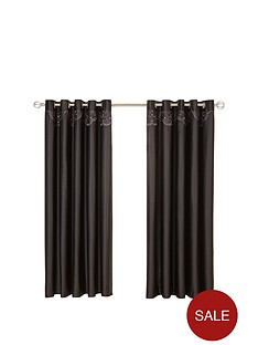 crystal-damask-eyelet-curtains-in-black