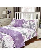 Butterfly Bed in a Bag - Lilac/Grey
