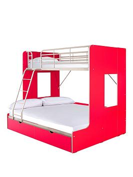 florida-trio-bunk-with-drawers-and-optional-mattress