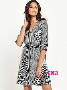 river-island-printed-zip-detail-shirt-dress