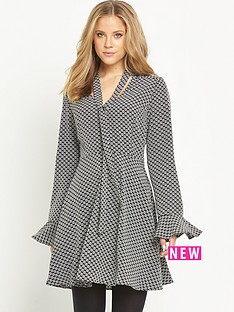 v-by-very-fluted-sleeve-tie-neck-dress