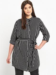ax-paris-curve-stripe-shirt-dress