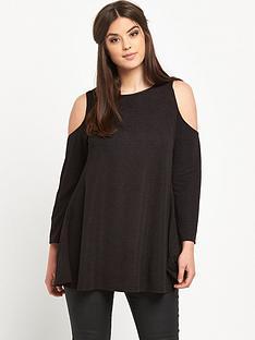ax-paris-curve-cut-out-shoulder-frac34-sleeve-swing-dress