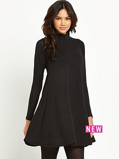 ax-paris-funnel-neck-swing-dress