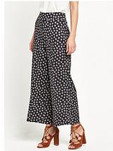 Printed Cropped Straight Trouser