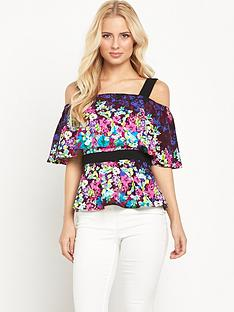 v-by-very-bardot-frill-print-top
