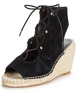 Marine Lace Up Wedge