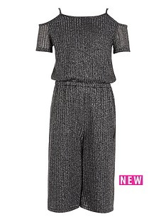 river-island-silver-lurex-rib-cold-shoulder-jumpsuit