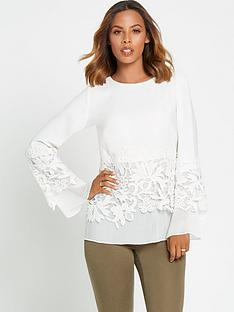 rochelle-humes-guipure-lace-pleated-blouse