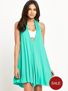 v-by-very-jersey-halter-neck-beach-dress