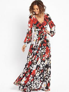 myleene-klass-red-floral-print-maxi-dress