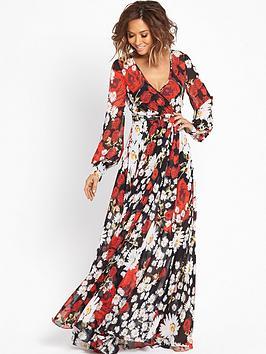 myleene-klass-red-floral-print-maxi-dress