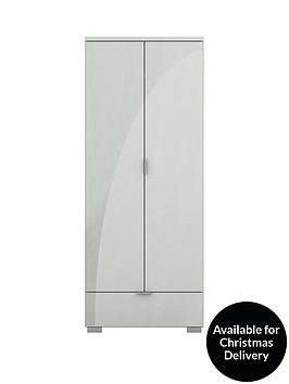 alexia-2-door-1-drawer-high-gloss-wardrobe