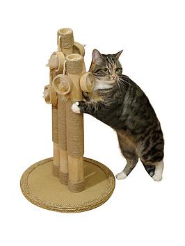 rosewood-natural-basil-cat-scratching-post-trio