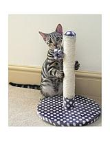 Grey & Cream Spot Dijon Cat Scratching Post