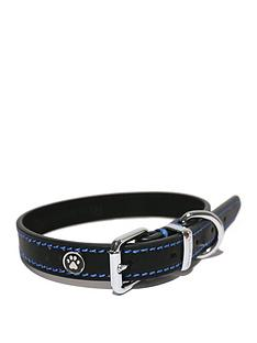 rosewood-luxury-leather-collar-black-14-18inch-x-075inch