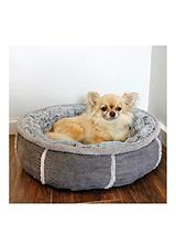 Grey Deep Plush Donut Bed - 20inch