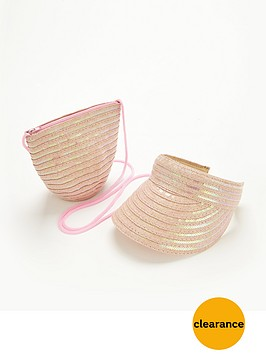 girls-sequin-straw-visor-and-bag-set-2-piece