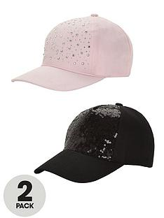 girls-embellished-caps-2-pack