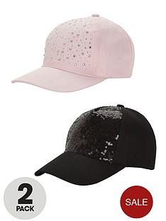 girls-embellished-caps-2-pack