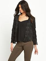 Jersey Fringed Jacket