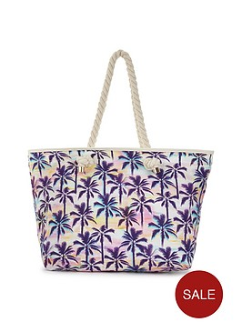 v-by-very-palm-print-beach-bag