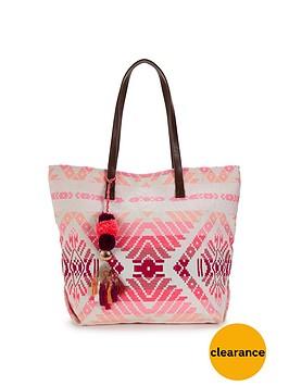 v-by-very-ikat-beach-bag