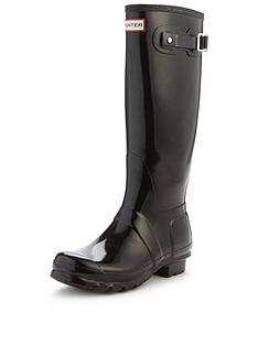 d04a1f28741 Hunter Original Tall Gloss Wellington Boots - Black
